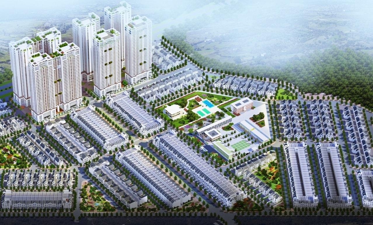 Một góc dự án Geleximco Hà Đông