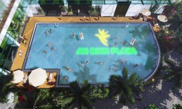 Bể bơi ngoài trời chung cư 97 Trần Bình