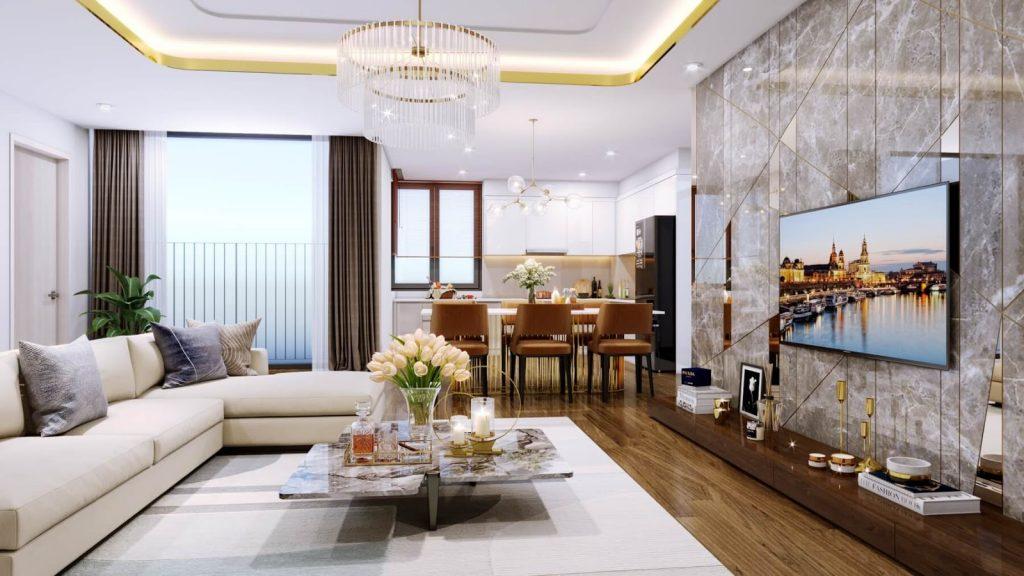 Thiết kế căn hộ đẳng cấp Amber Riverside Minh Khai