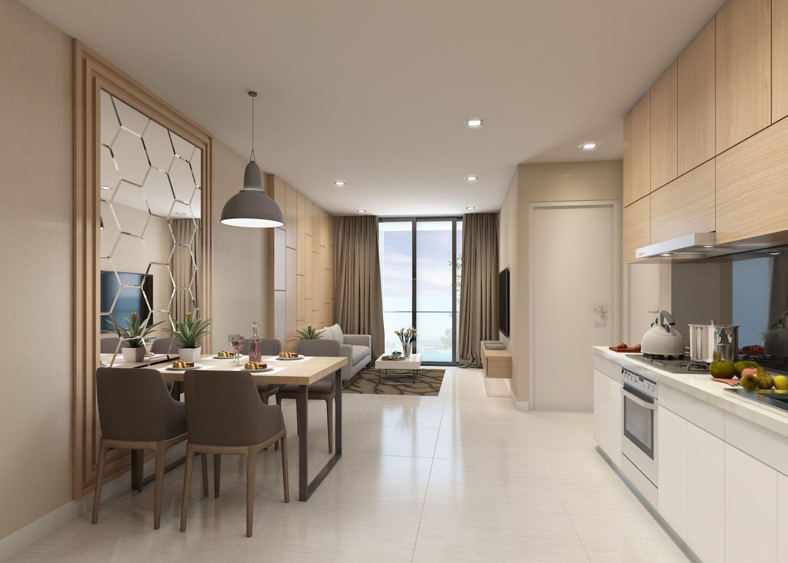 Thiết kế phòng khách an Bình Plaza