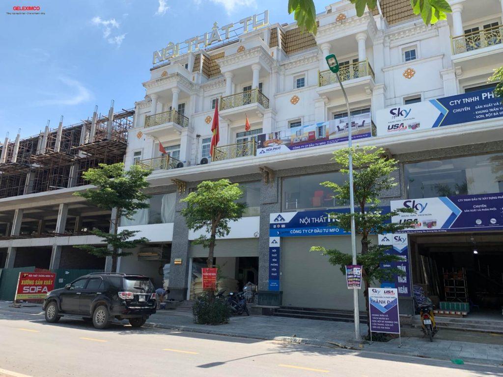 Phối cảnh nhà phố hai mặt đường Lê Trọng Tấn