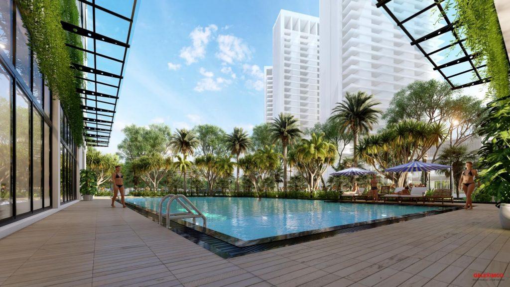 Bể bơi ngoài trời đẳng cấp của An Bình Plaza