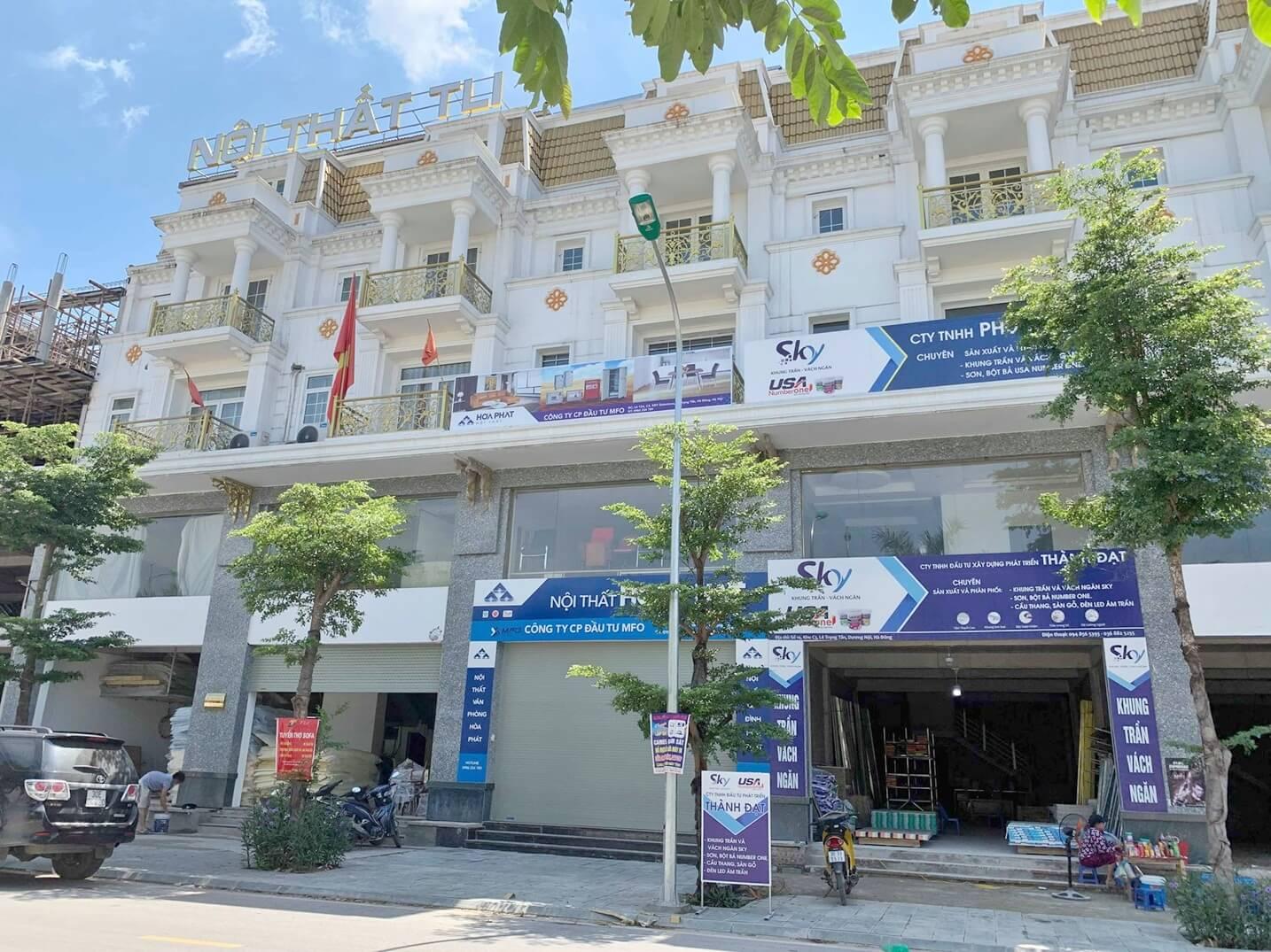 Cửa hàng nội thất Shophouse Geleximco