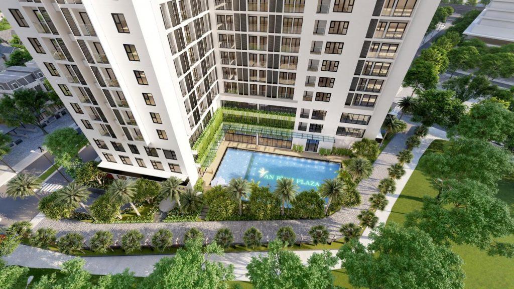 Không gian sống xanh bên trong chung cư An Bình