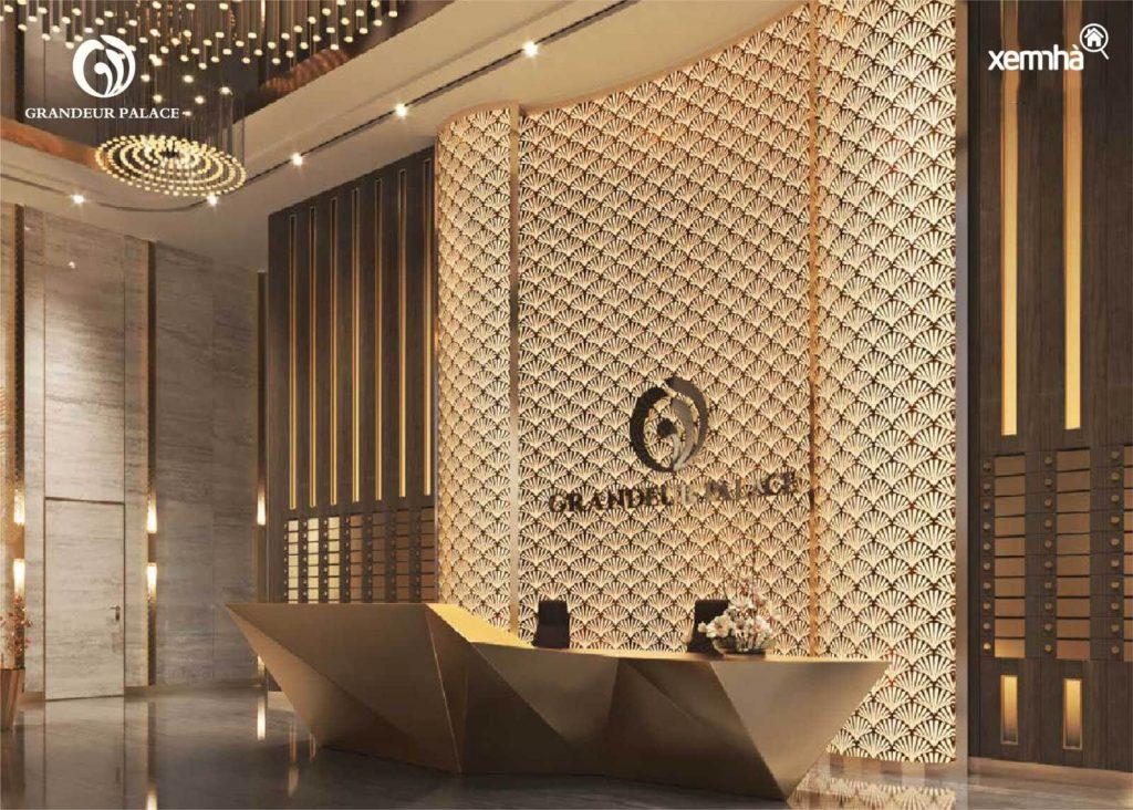 Sảnh toà nhà dự án Grandeur Palace
