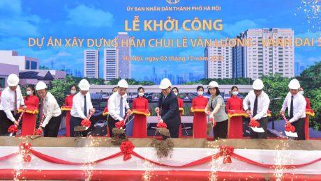 Khởi công hầm chui Lê Văn Lương - Vành đai 3