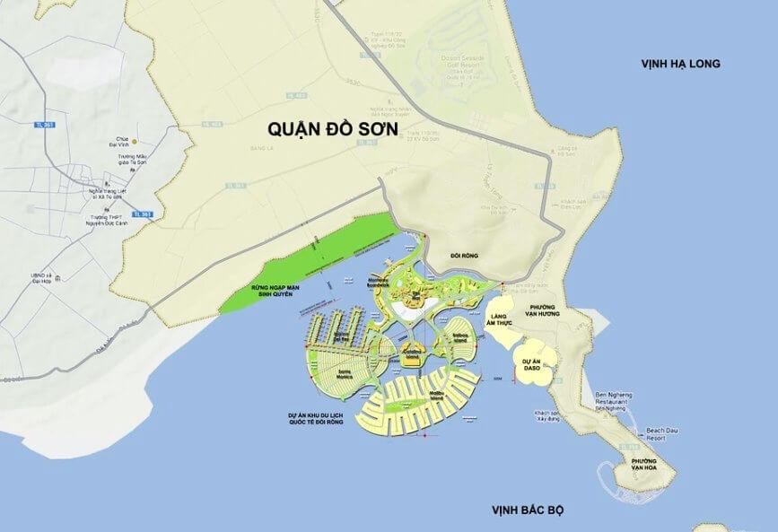 Vị trí dự án Dragon OCean Đồ Sơn